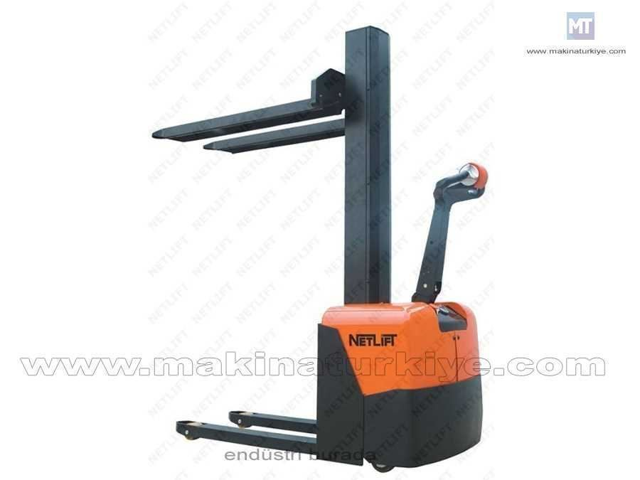 1 Ton Yaya Kumandalı Akülü İstif Makinesi / Netlift Nl Cme 10-16