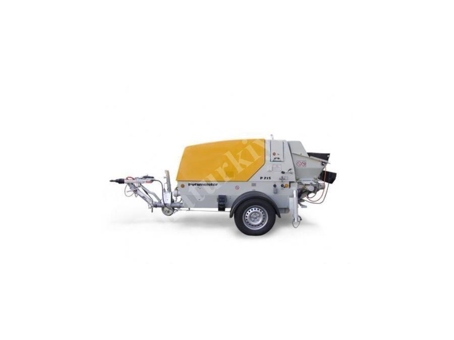 İnce Beton Pompası - Elektrikli ( 18 m3 /h )