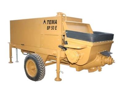 Sabit Beton Pompası 45 Kw / Tema Bp 50 E