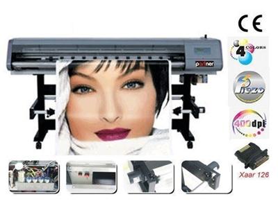 4 Renk Dijital Solventli Baskı Makinası / Partner Po 1508 Orion