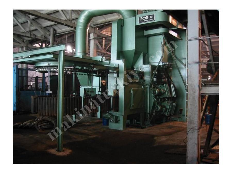 Askı Konveyörlü Kumlama Makinesi