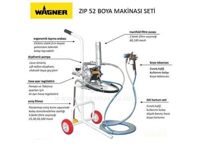 Diyaframlı Boya Makinesi Seti / Wagner Zıp 52
